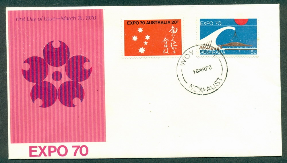 Australia 1970 Expo Unaddressed Woy Woy FDC Lot27738