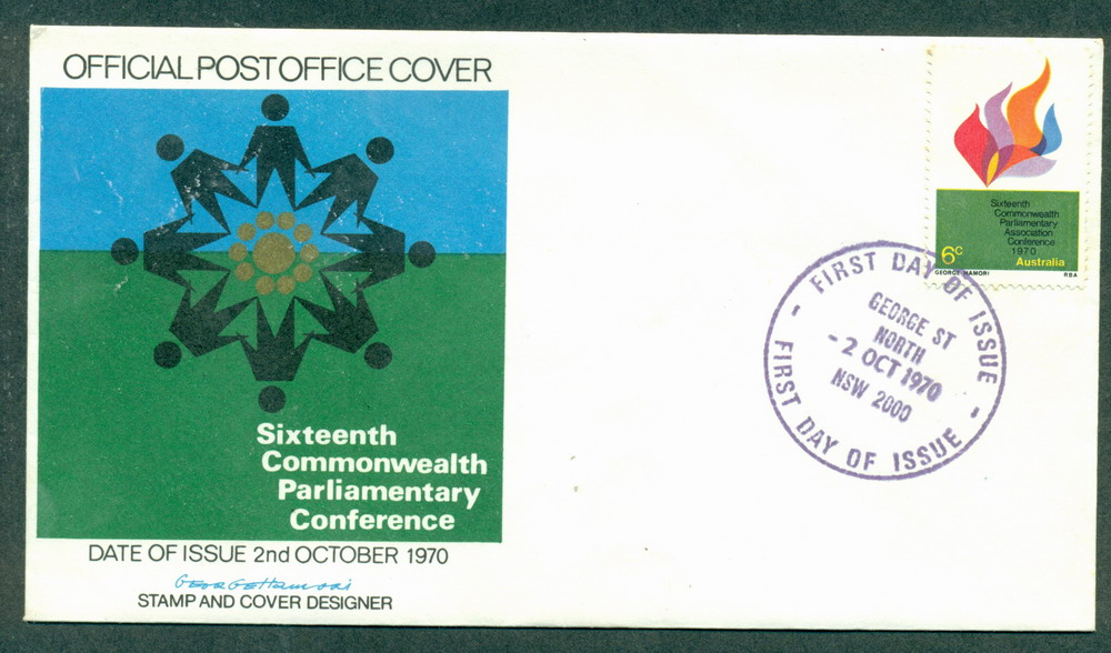 Australia 1970 Parliamentary Conf People (lt tones) FDC Lot27750