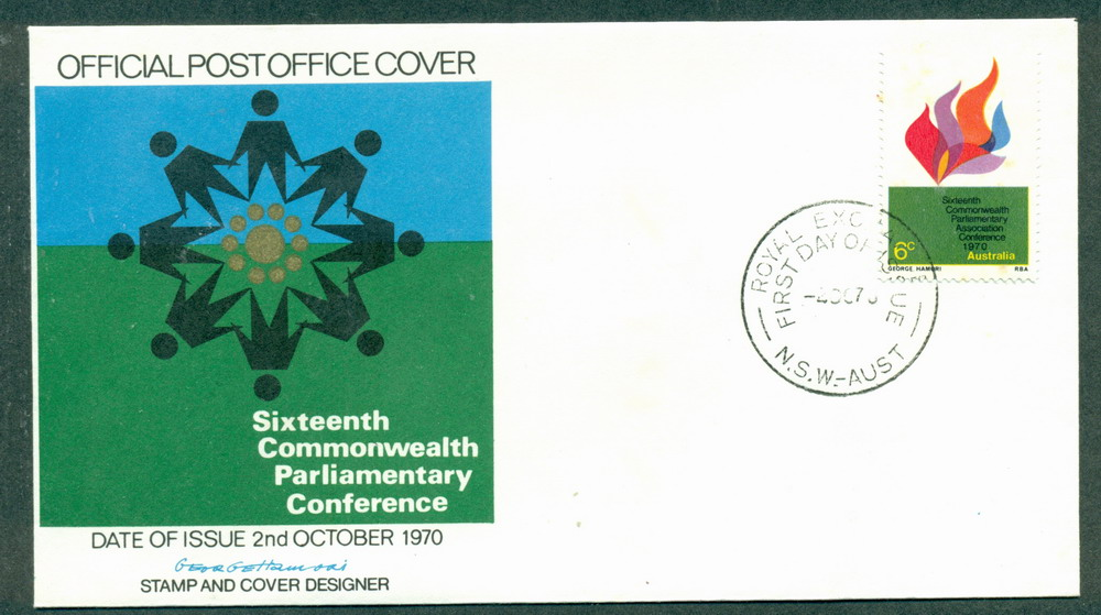 Australia 1970 Parliamentary Conf People (lt tones) FDC Lot27752