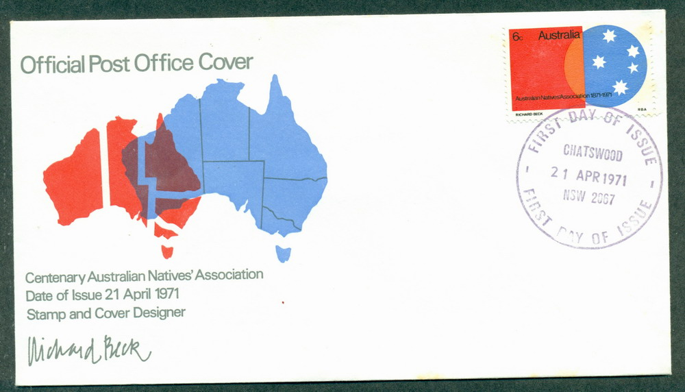 Australia 1971 ANA Map Chatswood (tones) FDC Lot27773