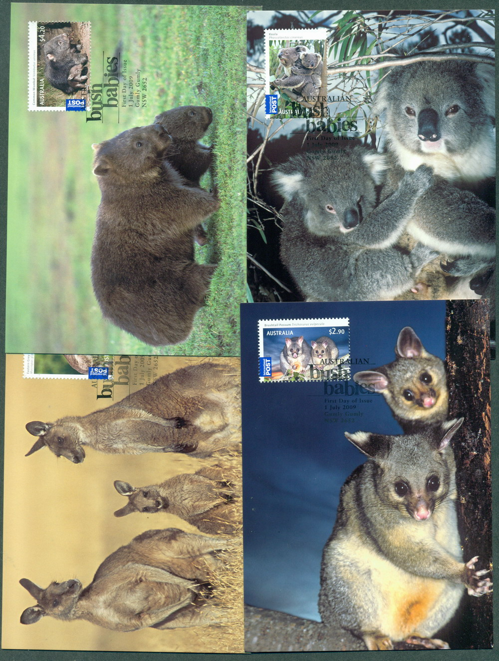 Australia 2009 Bush Babies Maxi cards Lot27885