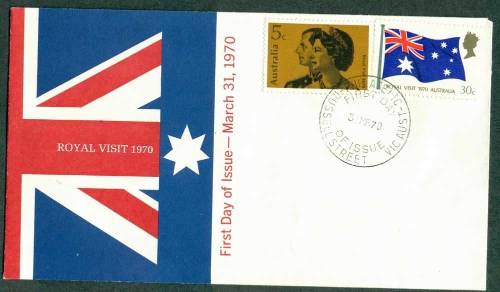 Australia 1970 Royal Visit unaddressed FDC Lot27927