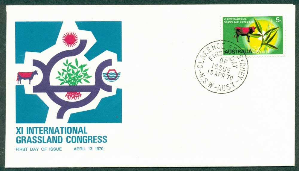Australia 1970 Grasslands Unaddressed FDC Lot27928