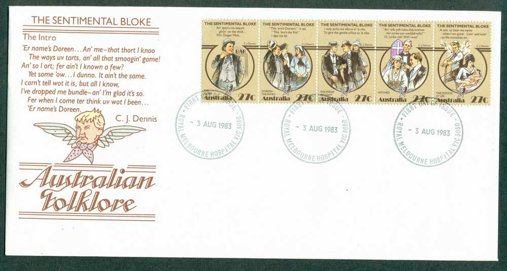 Australia 1983 Sentimental Bloke FDC Lot27936