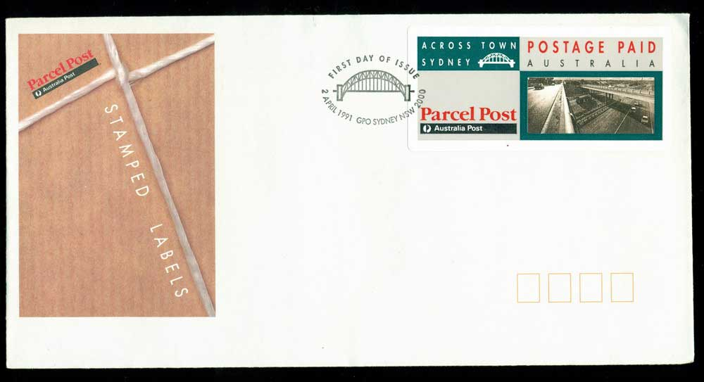 Australia 1991 Across Town label Sydney FDC Lot28000