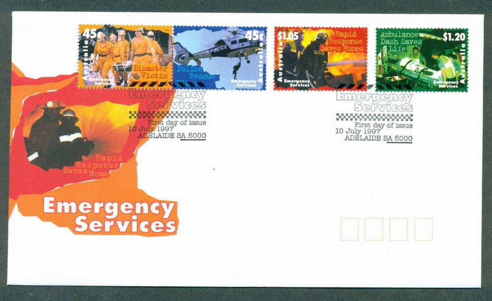 Australia 1997 Emergency Services, Adelaide FDC Lot28031