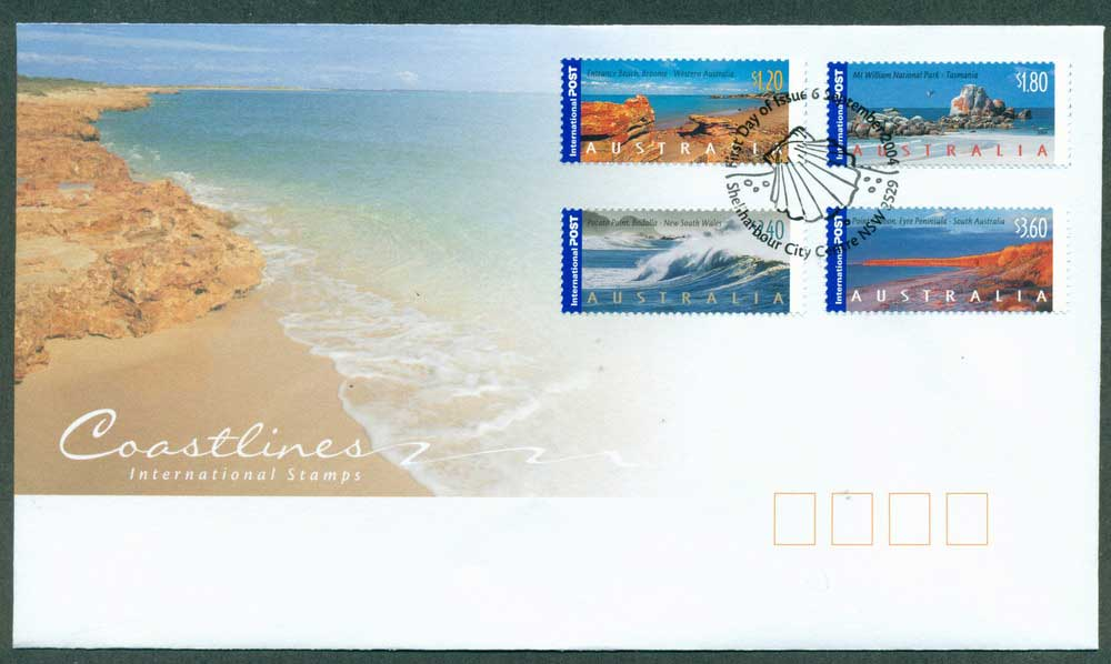 Australia 2004 Internationals Coastlines FDC Lot28043