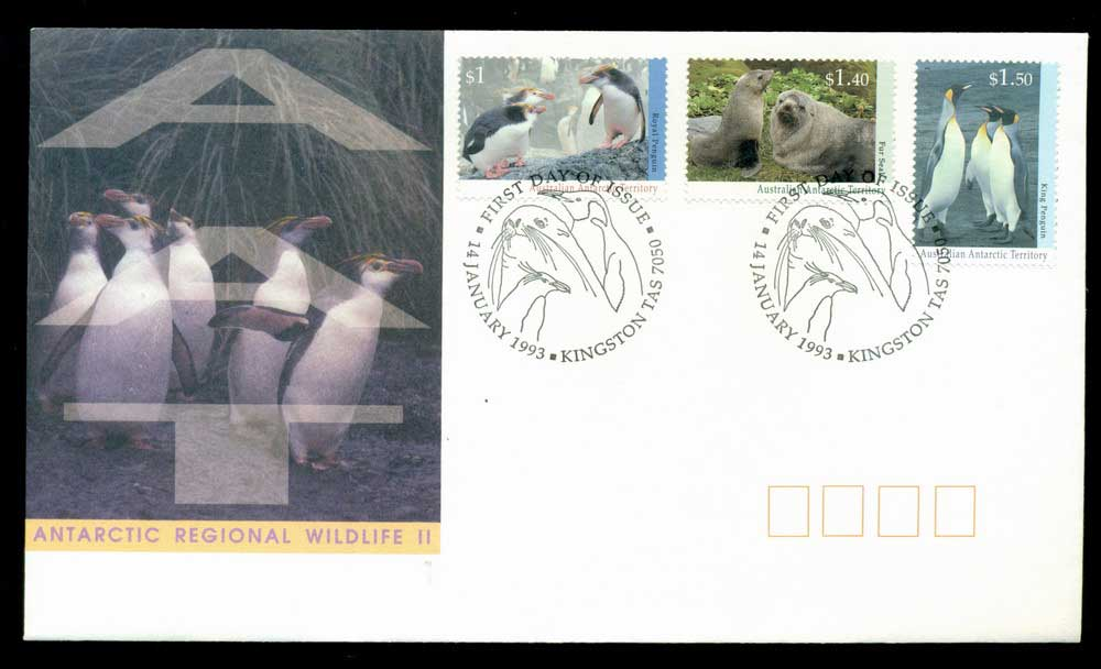 AAT 1993 Regional Wildlife II Kingston Tas FDC Lot28085