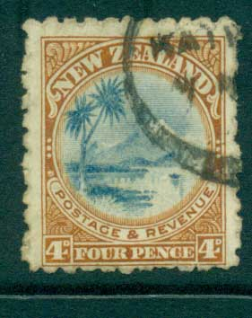 New Zealand 1900 4d Lake Taupo FU Lot28472 - Click Image to Close