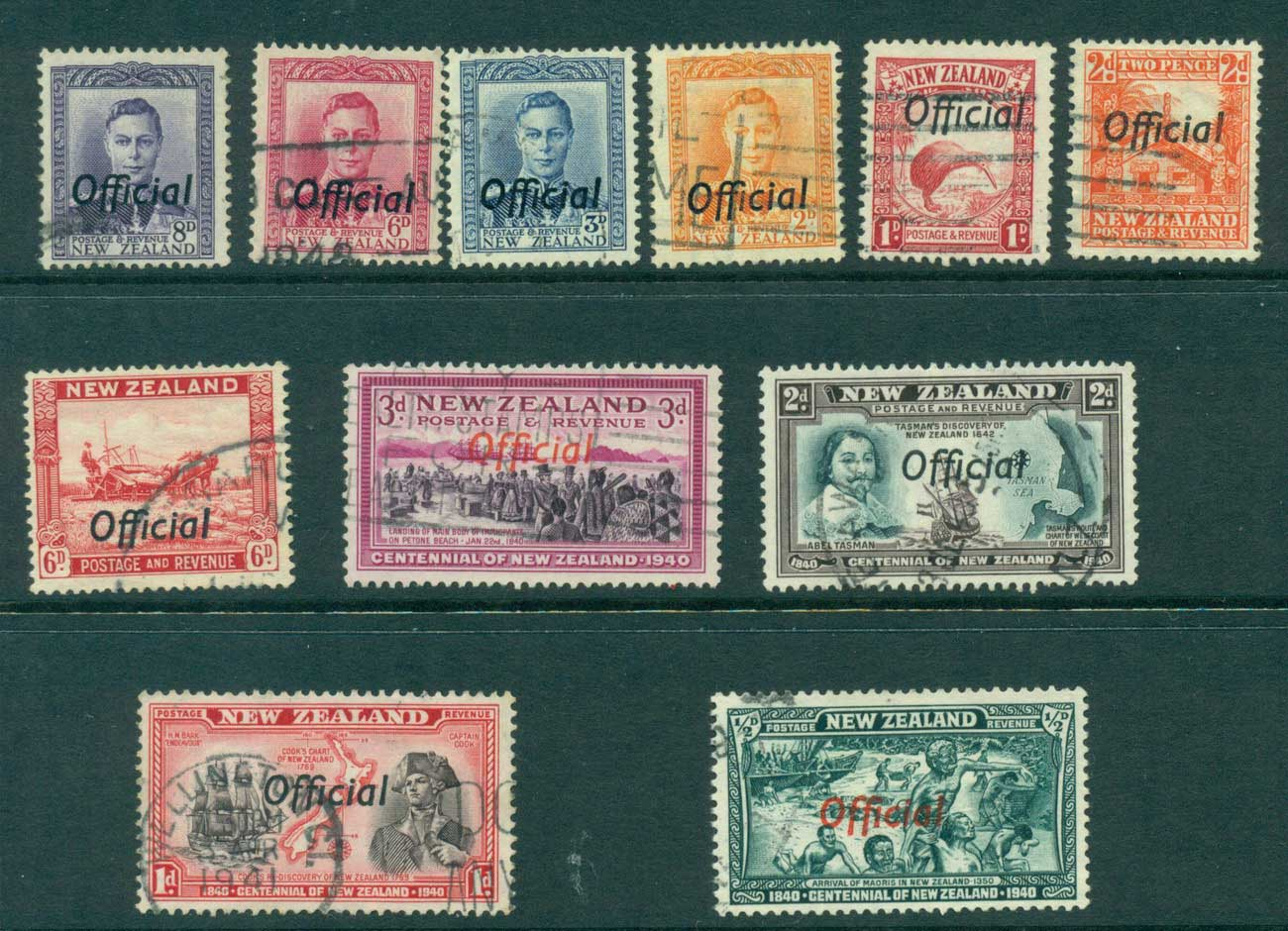New Zealand 1938-46 Officials Asst (11) FU Lot28490