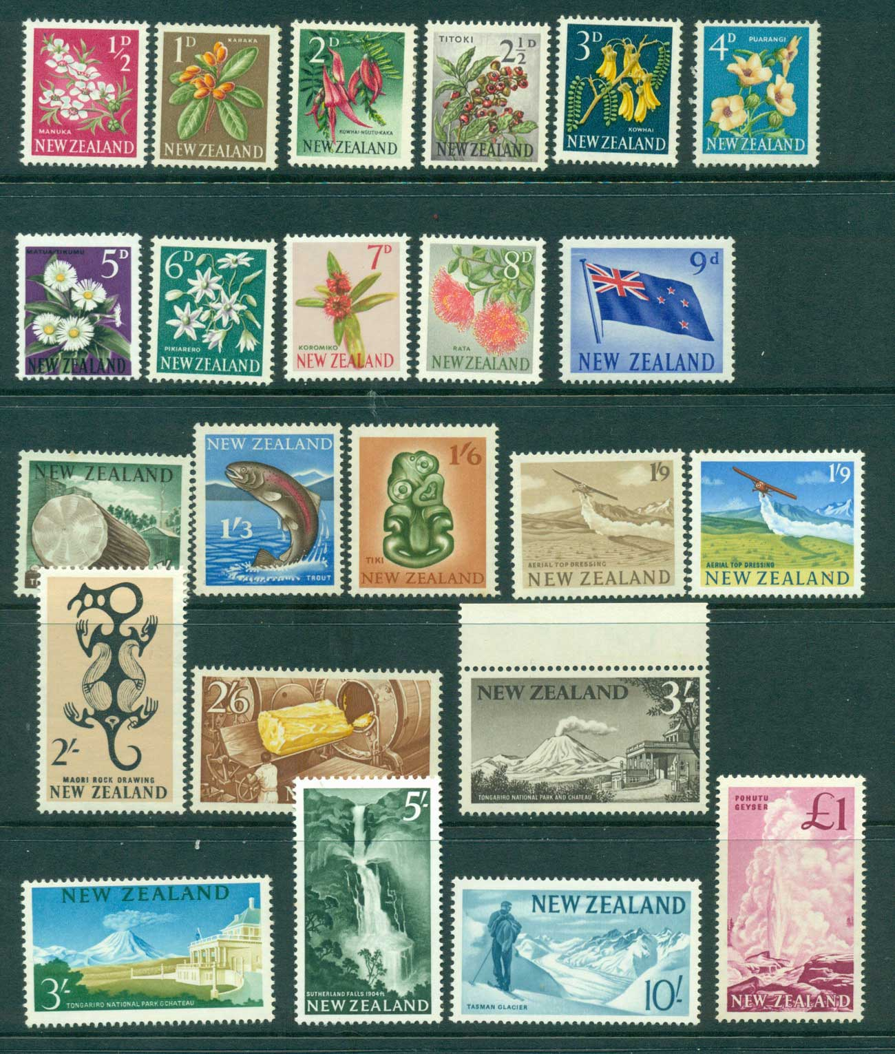 New Zealand 1960-66 Pictorial Defins MH/MUH (23) Lot28547