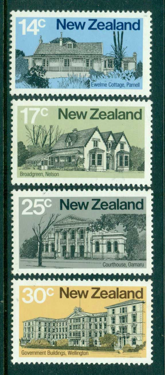 New Zealand 1980 Early NZ Architecture MUH Lot28642