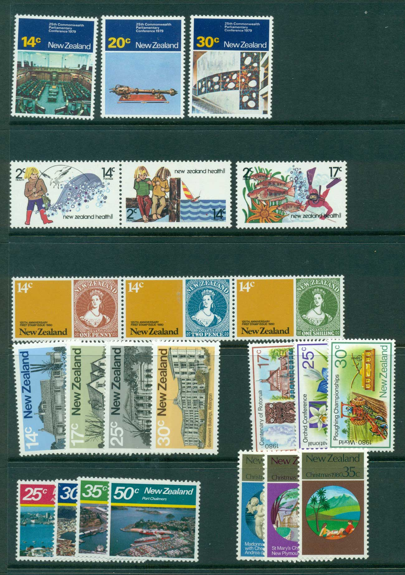 New Zealand 1980 Year Set (24) MUH Lot28719