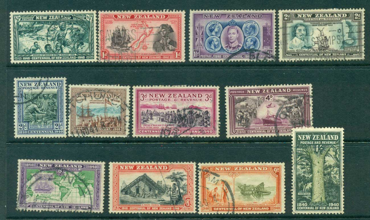 New Zealand 1940 Centenial (no 7d)(12/13)FU Lot28738