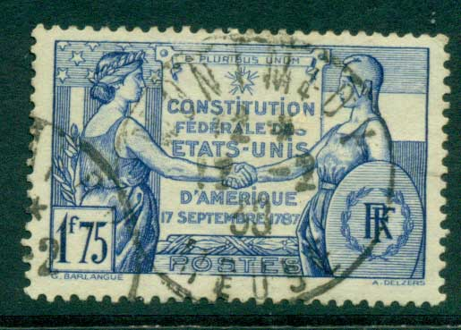 France 1937 US Constitution FU Lot28813