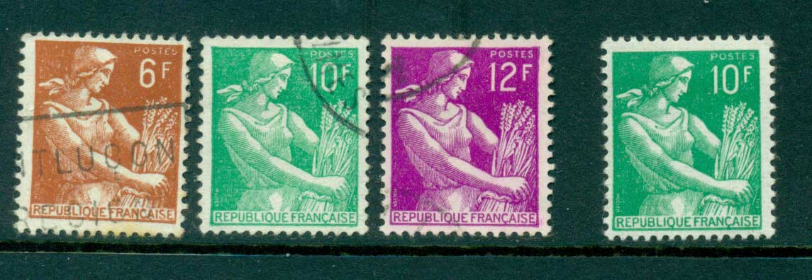 France 1957Farm Woman MH/FU Lot28966