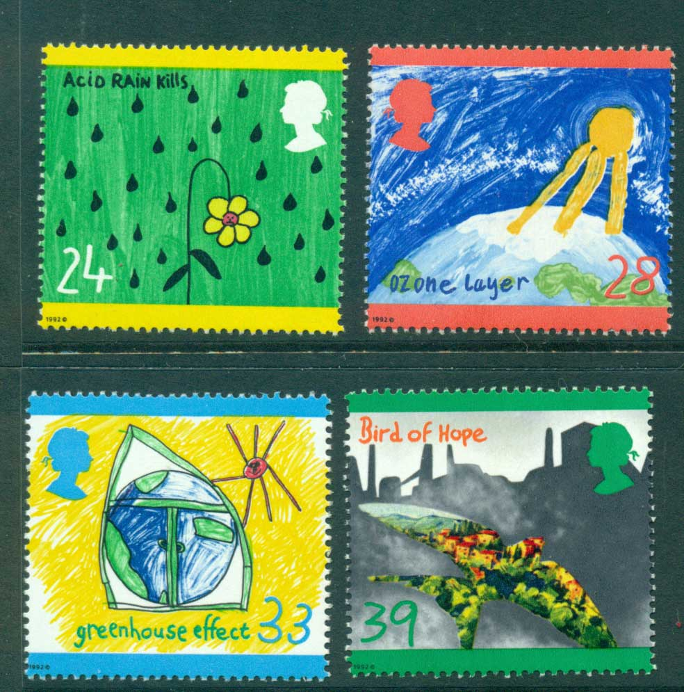 GB 1992 Childrens Drawings Environment MUH Lot29377