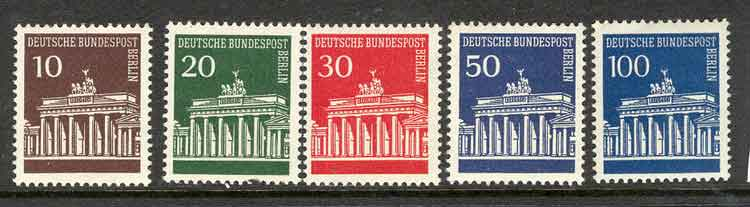 Germany Berlin 1966 Brandenburg Gate MUH lot2959