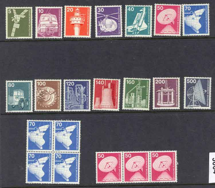 Germany 1975 Industries Asst MUH,MH lot3004