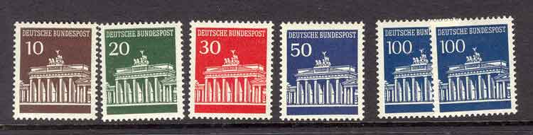 Germany Berlin 1966 Brandenburg Gate MUH Lot3006