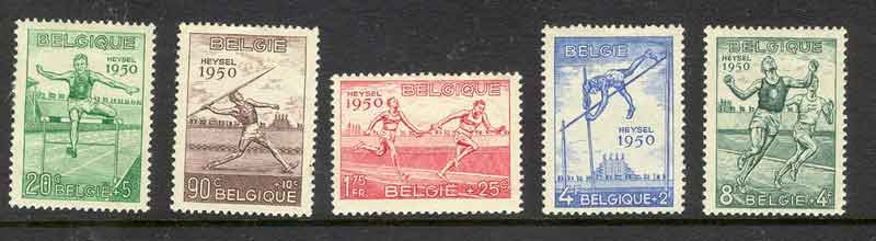 Belgium 1950 Brussells Atheletic Games MH lot3566