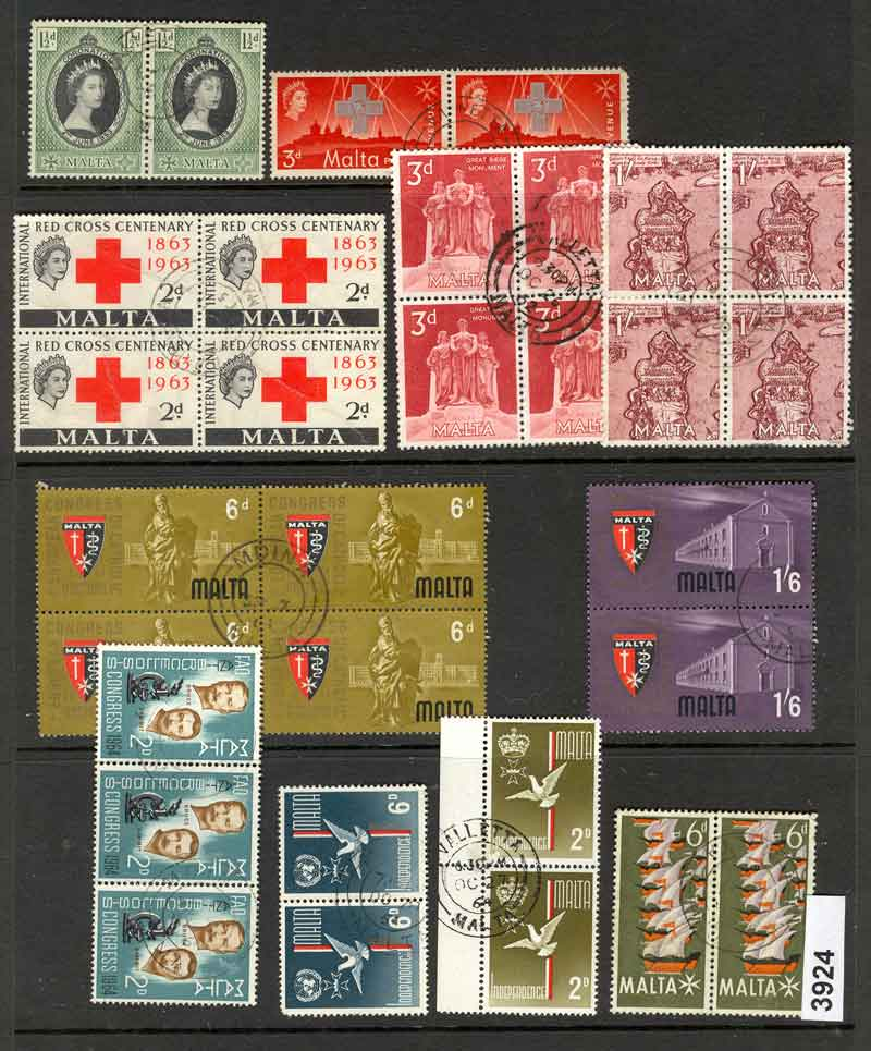 Malta Selection of Blocks & Pairs ot3924