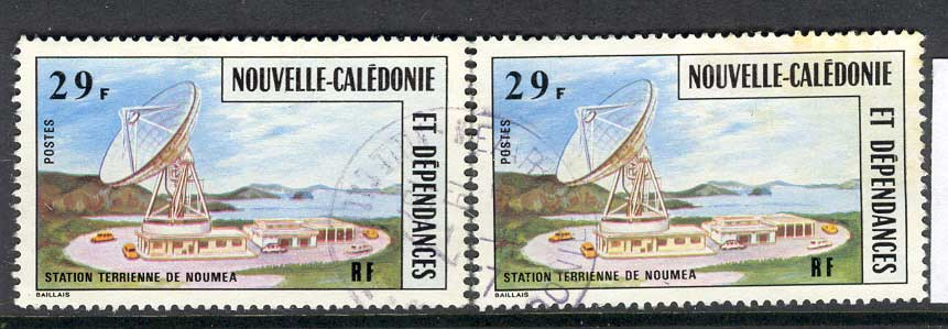 New Caledonia 1977 2x Satellite FU Lot4242