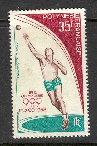French Polynesia 1968 30fr Olympic Air MNG Lot4285