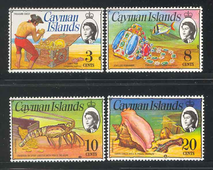 Cayman Is 1974/5 3c,8c,10c,20c defins MUh Lot4517
