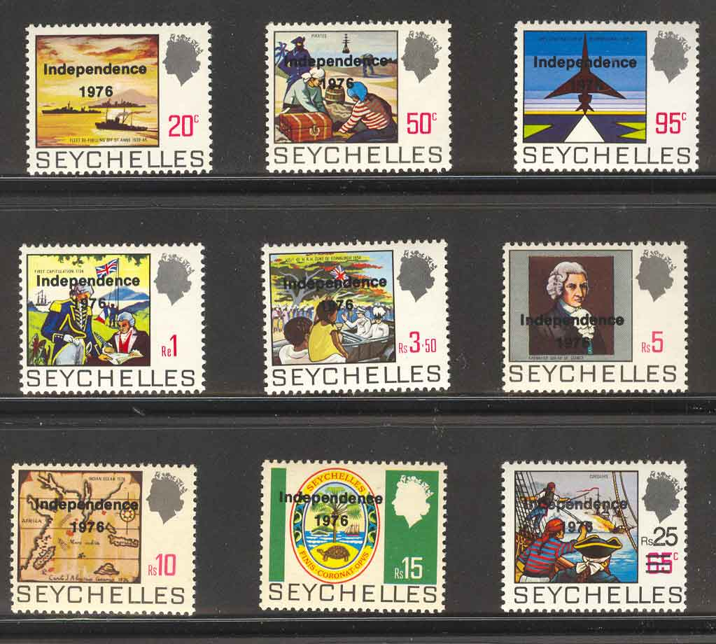 Seychelles 1976 Independence Opts MUH Lot4782