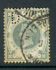GB 1887 QV 1/- Jubliee Used Lot4990