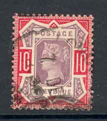 GB 1887 QV 10d Jubliee Used Lot4991