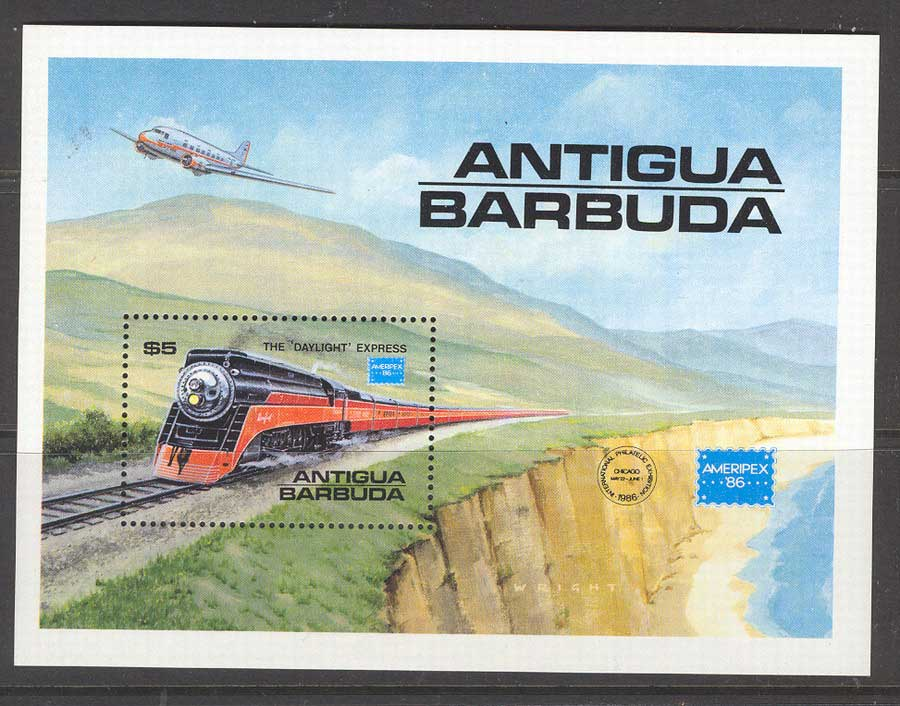 Antigua & Barbuda 1986 Trains MS MUH Lot5695