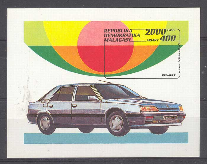 Madagascar 1992 Car MS MUH Lot5809
