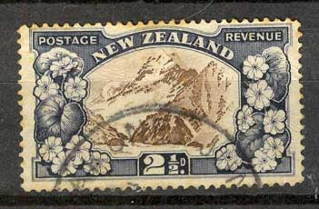New Zealand 1935 2 1/2d Mt Cook Used Lot5835