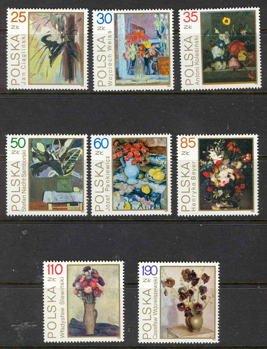 Poland 1989 Still Life MUH Lot6021