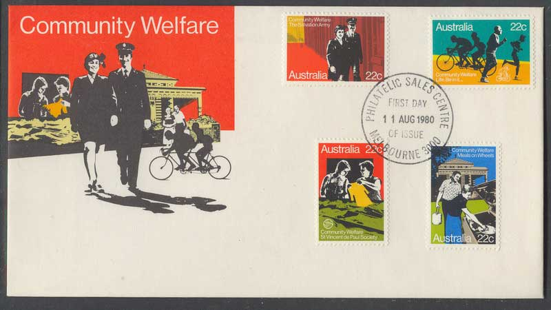 Australia 1980 Welfare, Melbourne Philatelic Centre FDC Lot6111