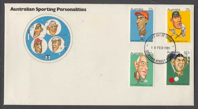Australia 1981 Sporting Personalities FDC Lot6119