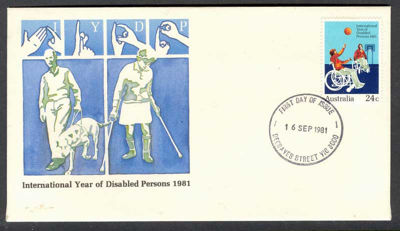 Australia 1981 Year of Disabled FDC Lot6127
