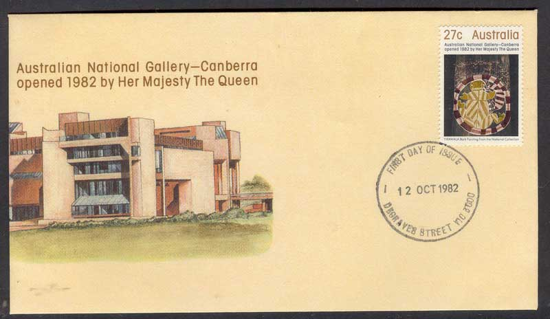 Australia 1982 National Gallery FDC Lot6148