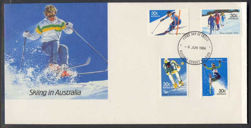 Australia 1984 Skiing FDC Lot6175