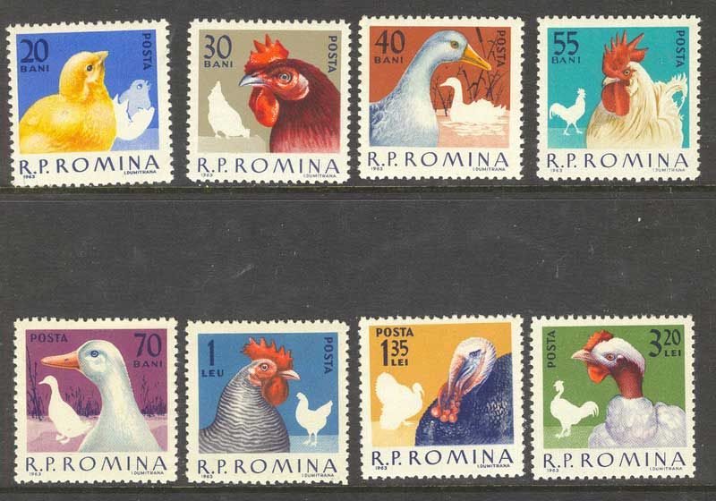 Romania 1963 Poultry MUH Lot6700