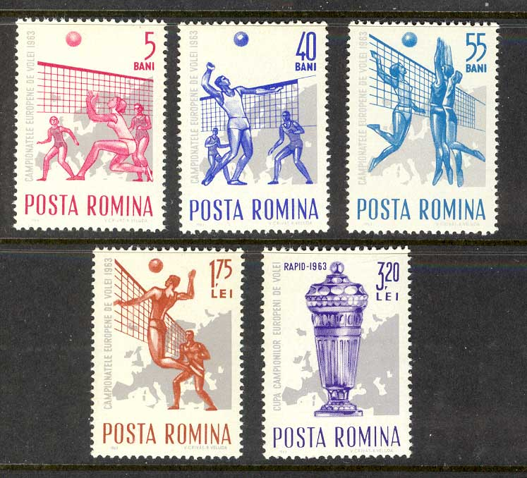 Romania 1963 Volleyball MUH Lot6713