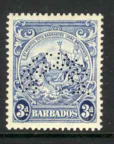 Barbados 1937 3d Blue SPECIMEN MLH Lot7043
