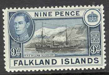 Falkland Is 1938 9d RSS W. Scoresby MUH Lot7064