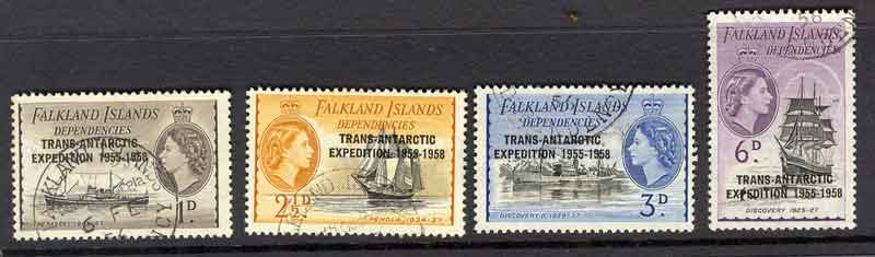 Falkland Is Deps 1956 Trans Atlantic VFU Lot7117