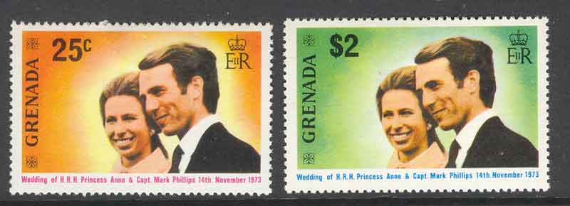 Grenada 1973 Princess Anne Wedding MLH Lot7238