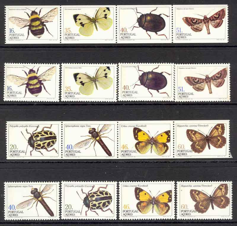 Azores 1984+85 Insects + Booklet Pane MUH Lot7385