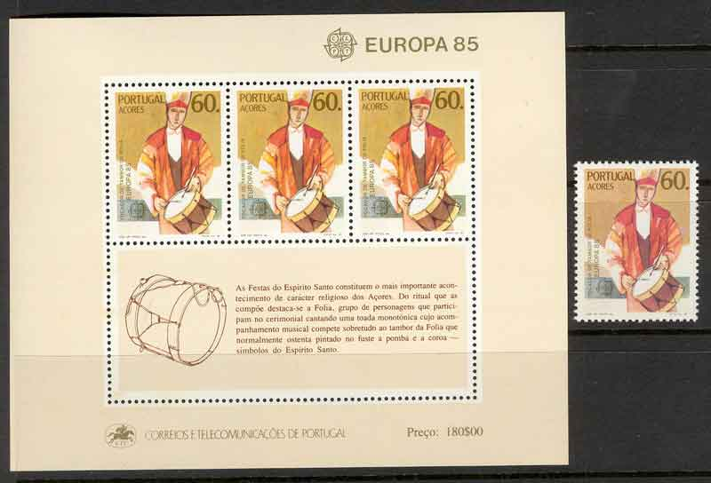 Azores 1985 EUROPA + MS MUH Lot7386