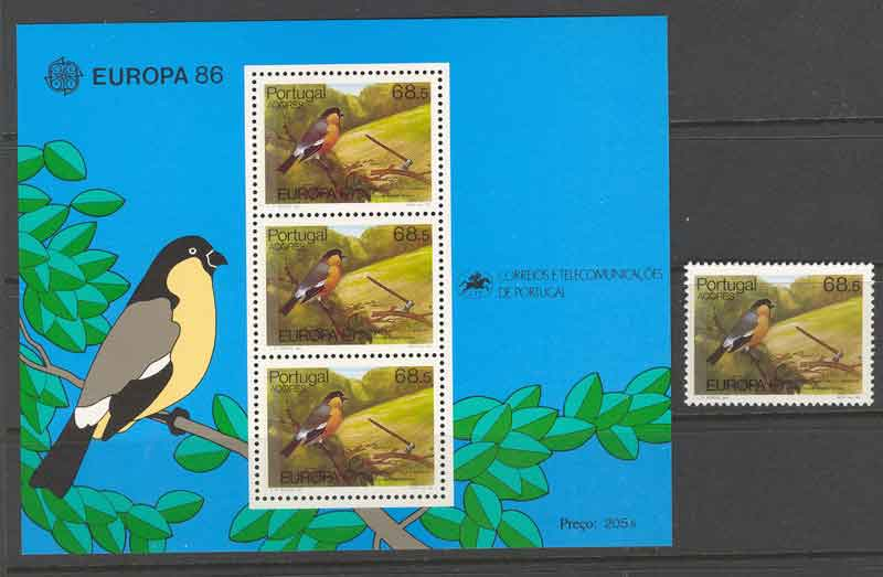 Azores 1986 EUROPA + MS MUH Lot7388